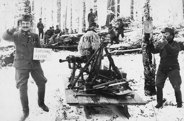 fortepan_! Szilveszer - 1917 Szilveszter a fronton az Első világhábrúban
