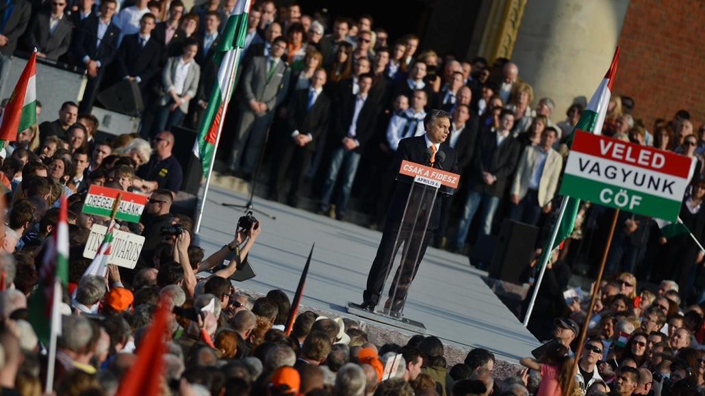 faz. Békemenet 2014.03.29. Budapest - Orbán Viktor beszél