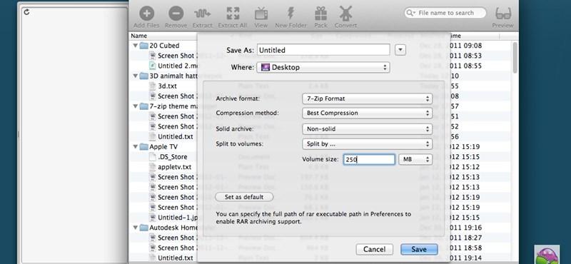 Remek tömörítőprogram OS X-re, most ingyen!