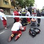 Fotók: Meghalt a VIII. kerületi súlyos baleset egyik sérültje