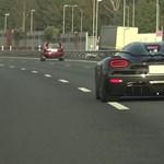Videó: Ritka ilyen minőségben látni 300 km/h-a feletti kergetőzést autópályán