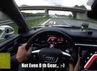 Videó: 363 km/h-nál veszi el a gázt a sofőr az Audi RS7-ben