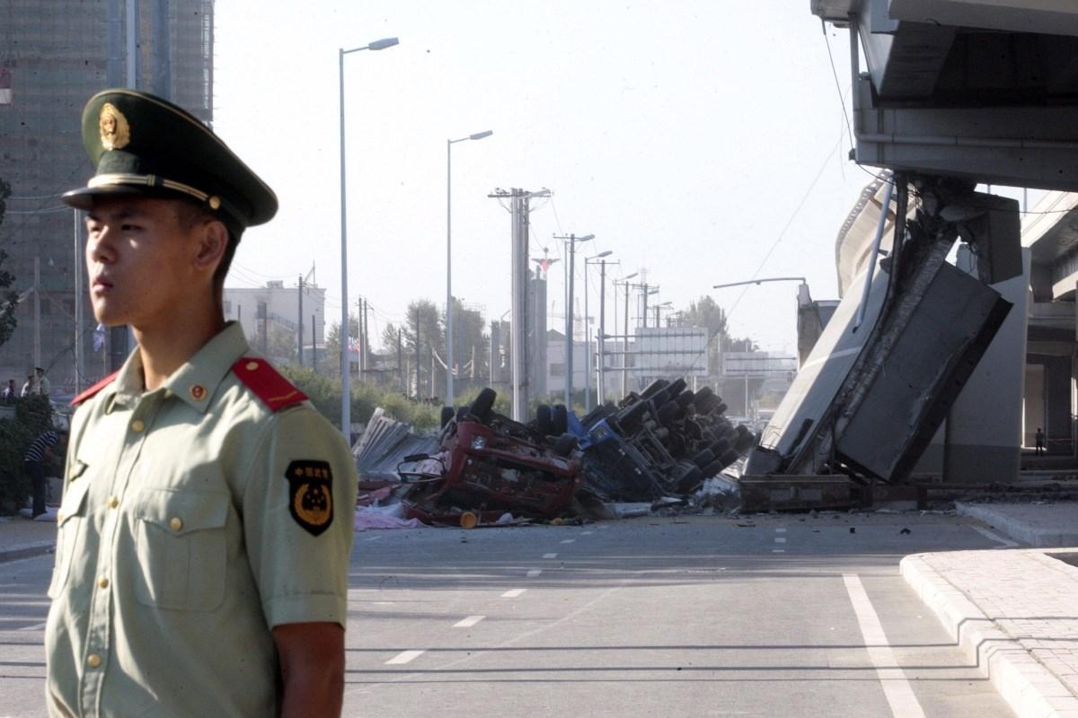 Fotó: leszakadt egy autópálya Kínában, többen meghaltak