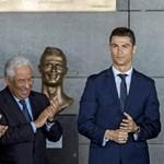 Rémületes szobor készült Cristiano Ronaldóról - képek