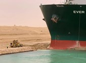 A cargo ship stranded in the Suez Canal has been released