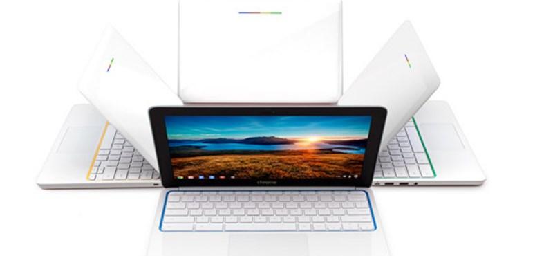 Összefogott a két barát: itt az elérhető árú notebook a Google-HP párostól