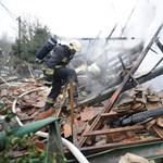 Fotó: Felrobbant egy családi ház Budapesten