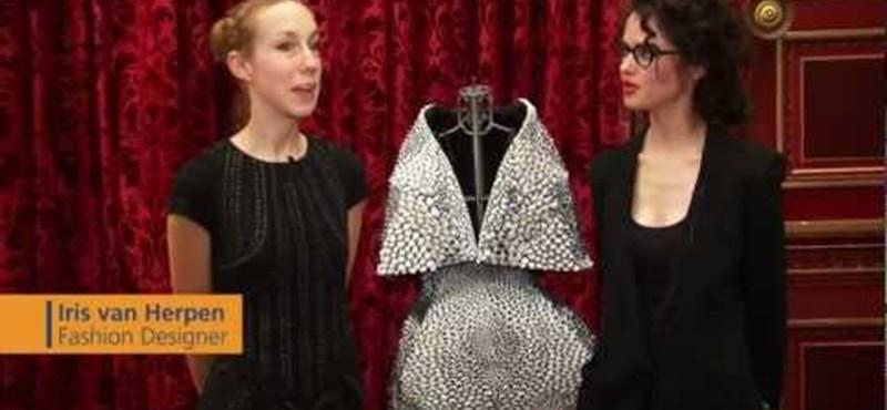 3D-s nyomtatással készült ruhát mutattak be