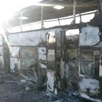 Ötvenketten égtek benn egy buszban Kazahsztánban