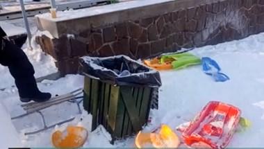 Elborította a műanyagszemét a Kékestetőt a hétvégén