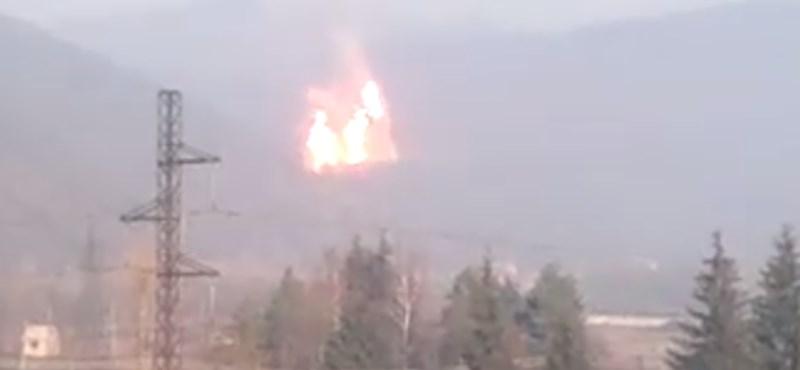 Videó: Óriási gázrobbanás történt Kárpátalján