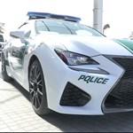 450 lóerős Lexus a dubaji zsaruk szuperflottájában