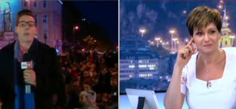 Egy félmeztelen tüntető volt Kálmán Olga keddi műsorának fénypontja – videó