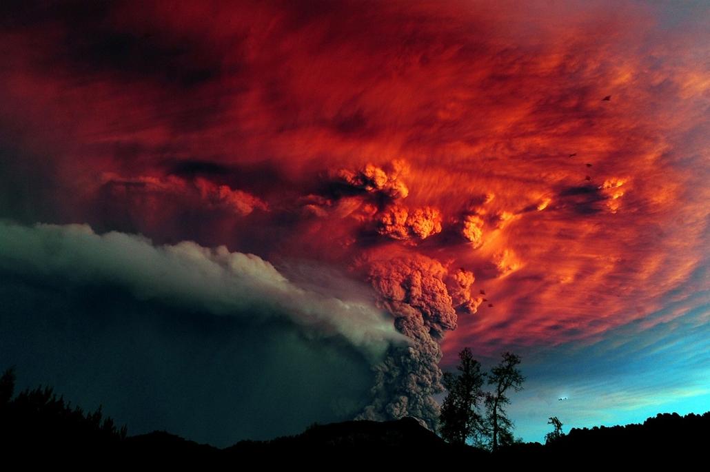 Osorno, Chile: a Puyehue vulkán 2013. június 15-én - vulkán, vzulkánkitörés,