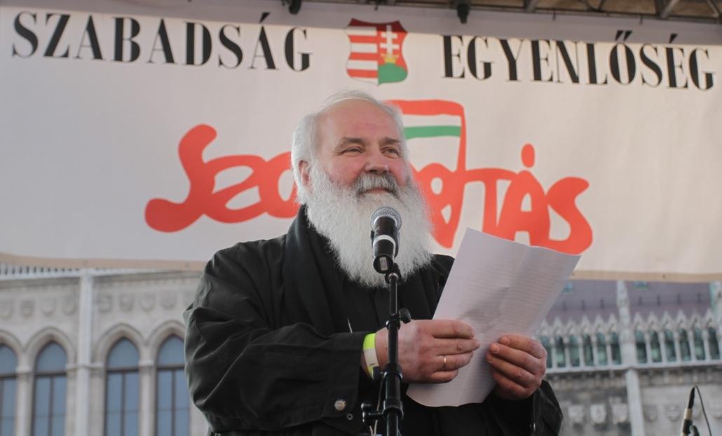 Tüntetés a Kossuth téren - Szolidaritás mozgalom