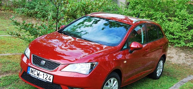 Seat Ibiza ST teszt: öt liter alatt eszik a kombi