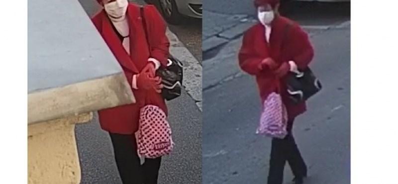 Milliós kárt okozott ez a piros ruhás nő, amikor körbekarcolt egy terepjárót a Józsefvárosban