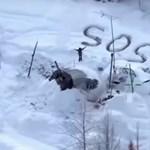 Hóba rajzolt SOS mentett meg egy férfit a jéghideg vadonból
