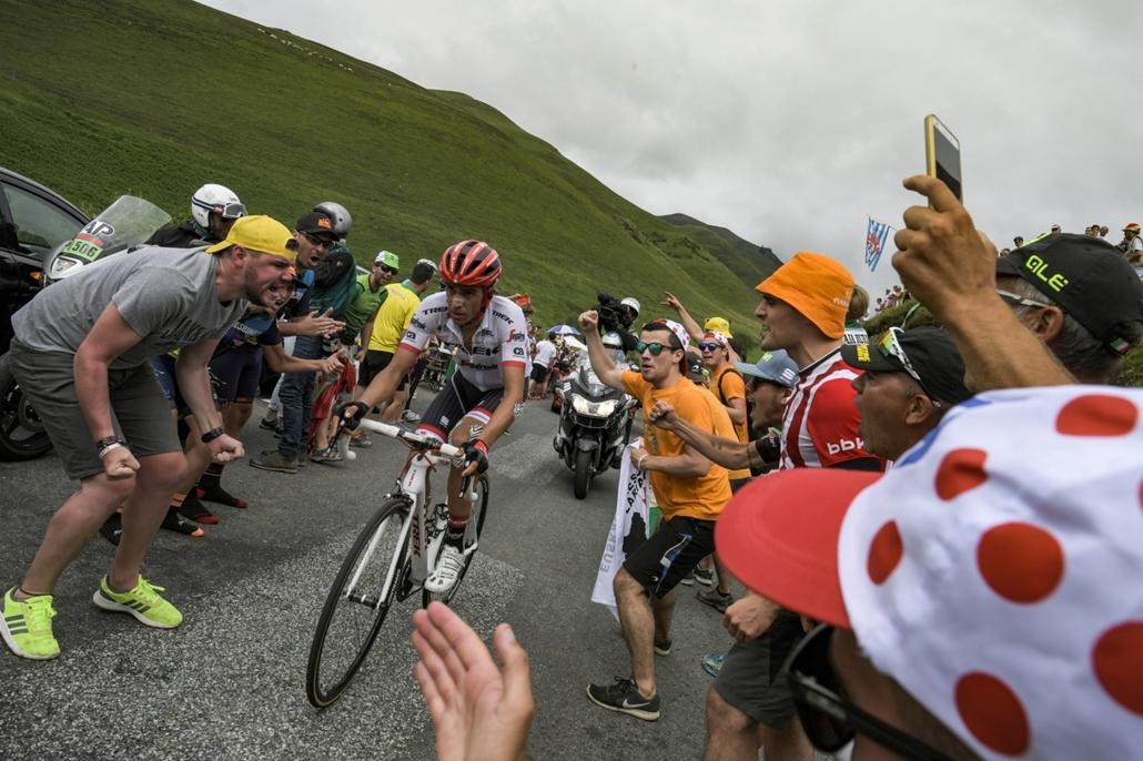 afp.17.07.13. - A spanyol Alberto Contador Pau és Peyragudes városa között július 13-án a tizenkettedik szakaszon. - Tour de France 2017