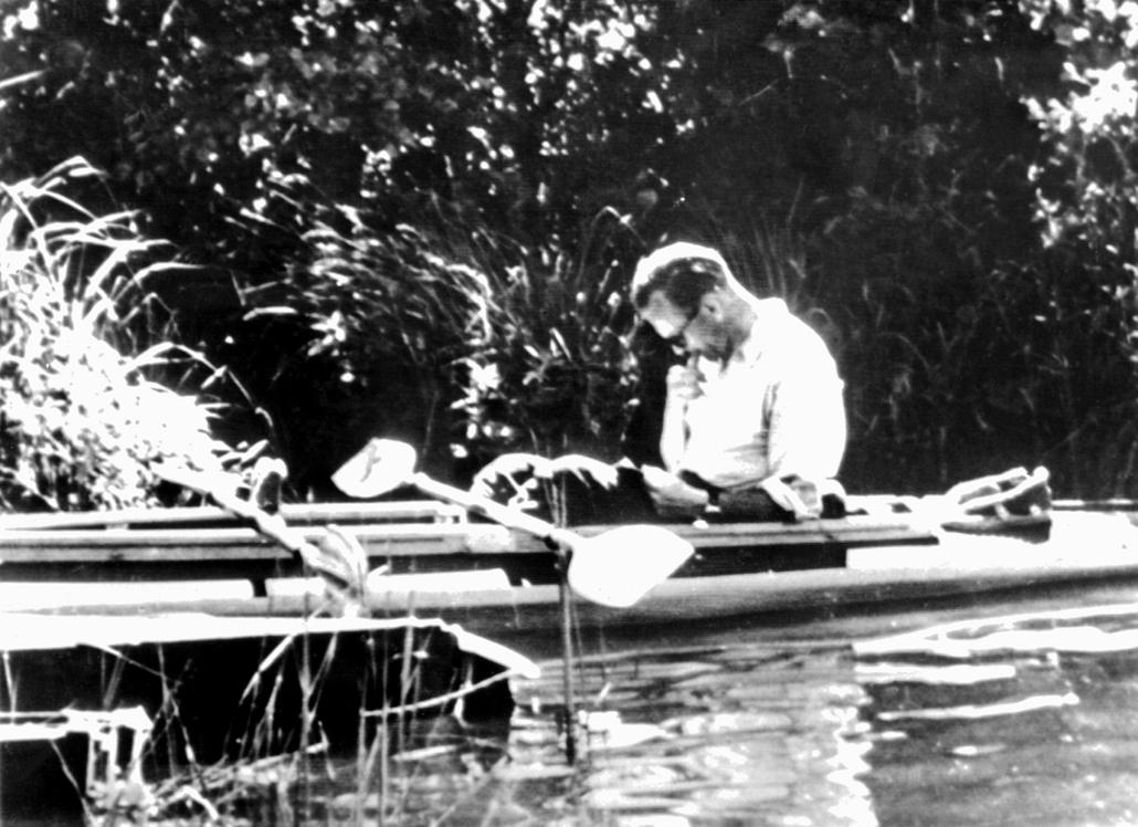 afp.1978.10.01. - az ifjú Karol Wojtyla csúnakban - ,II. János Pál pápa