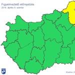 Heves szél miatt adtak ki figyelmeztetést több megyére (térképpel)