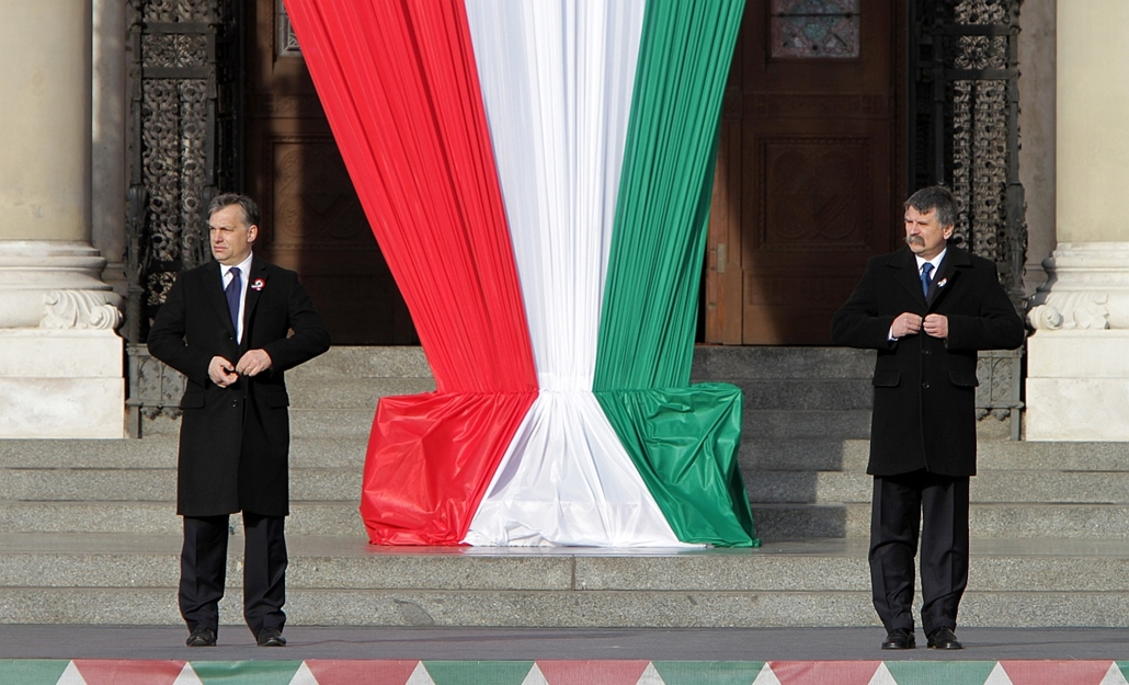2012.03.15. - Március 15. - ünnepi beszéd előtt Orbán Viktor - évképei