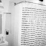Olvasható zuhanyfüggöny
