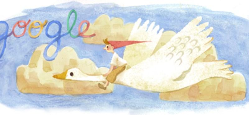 A Nils Holgersson íróját ünnepli ma a Google