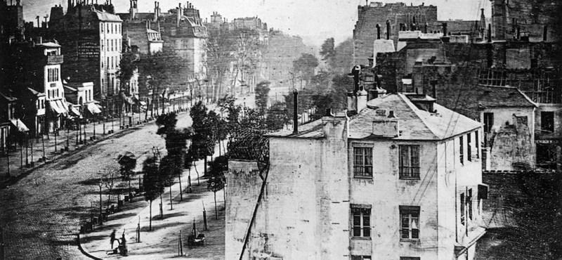 Nézze meg, ez történelmi: 176 éve készült az első embert is ábrázoló fotó