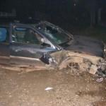 Fotókon az isaszegi autós üldözés vége