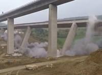 Videó: így robbantottak fel egy 12 ezer tonnás német viaduktot