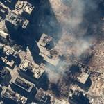 Műholdképek mutatják meg, hogyan nézett ki Manhattan 2001. szeptember 11-e után