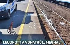 Mozgó vonatról ugrott le egy férfi Debrecenben, szörnyethalt