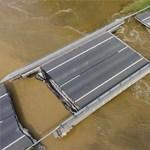 Akkora áradás volt Nagyatádnál, hogy újabb rubrikákat kellett felvésni a vízmércére