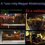 Magyarázkodik a közmédia a tüntetős bejelentkezés miatt