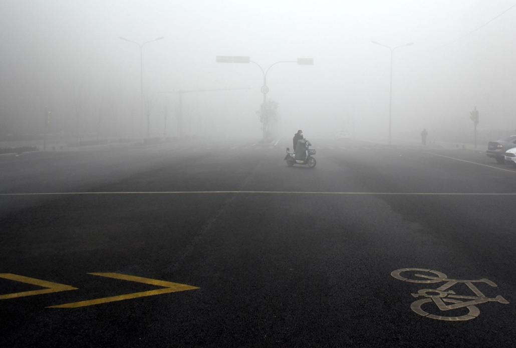 afp.17.01.04. Szmog Kínában. nagyítás, szmog, légszennyezettség