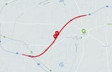 Leszakadt egy kábel, teljes útzár van az M3-as autópályán