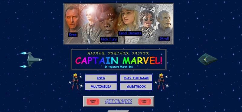 Nagyon retro, mégis nagyon hangulatos weboldalt csináltak a Marvel új szuperhősfilmjének