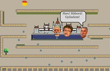 Ebben a Pac-Man-szerű játékban meg kell enni a koronavírust, miközben Orbán és Kásler is üldöz