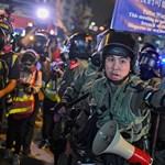 Karácsony első napja sem telt el összecsapások nélkül Hongkongban