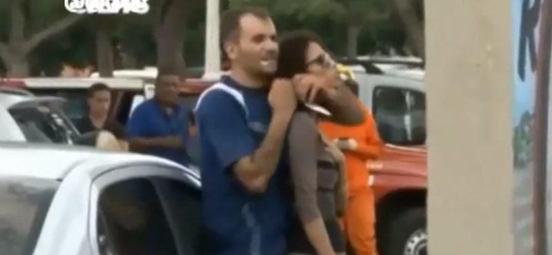 Élőben közvetítették a brazil túszejtést - videó
