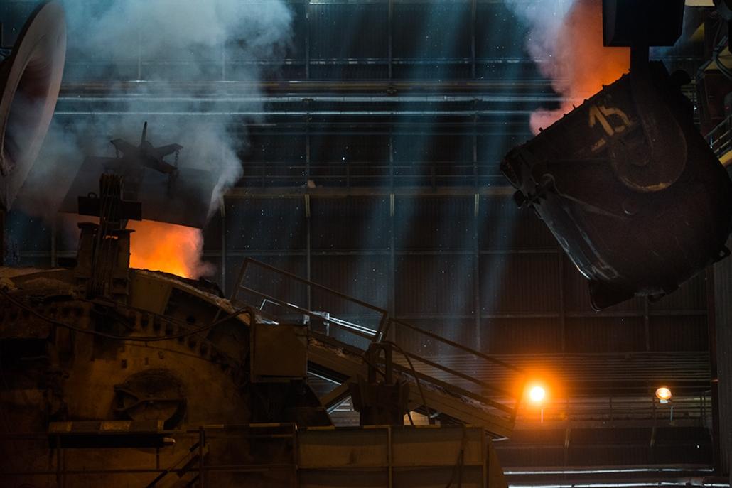 Dunaferr, vasmű, vasöntés, kohászat, ipar, gazdaság, nagyítás