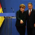 Merkel Budapesten: feszült sajtótájékoztató és a letiltott tüntetés