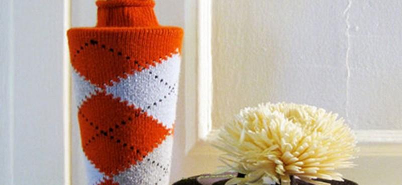 Őrült ötlet, de jópofa: kötött zokniból lakásdísz (fotókkal)