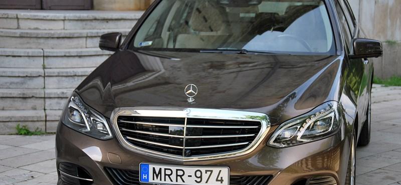 Mercedes E 350 teszt: Karl nagybácsi Stuttgartból