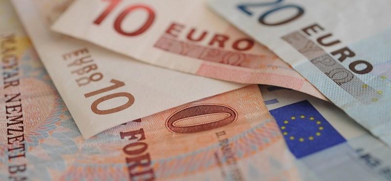 Egyelőre 294 forint alatt van az euró