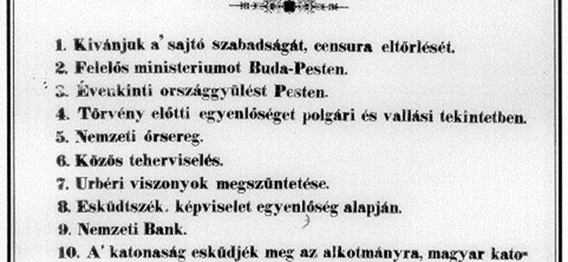 Mementó: se Rákosi, se Horthy nem szerette március 15-ét