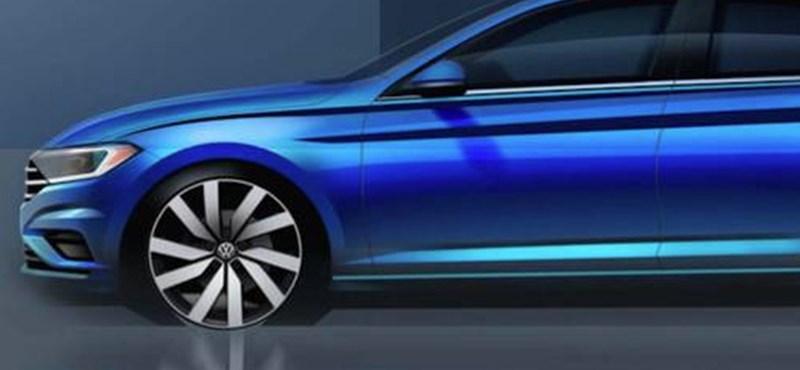 Kedvcsináló fotón az új VW Jetta: olyan mint egy mosásban összement Arteon