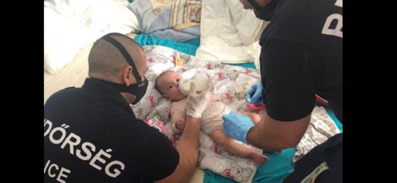 A magyar rendőrök tisztába tettek egy babát egy bűncselekmény helyszínén
