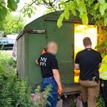 Régi katonai teherautóban termesztették a drogot Gyömrőn